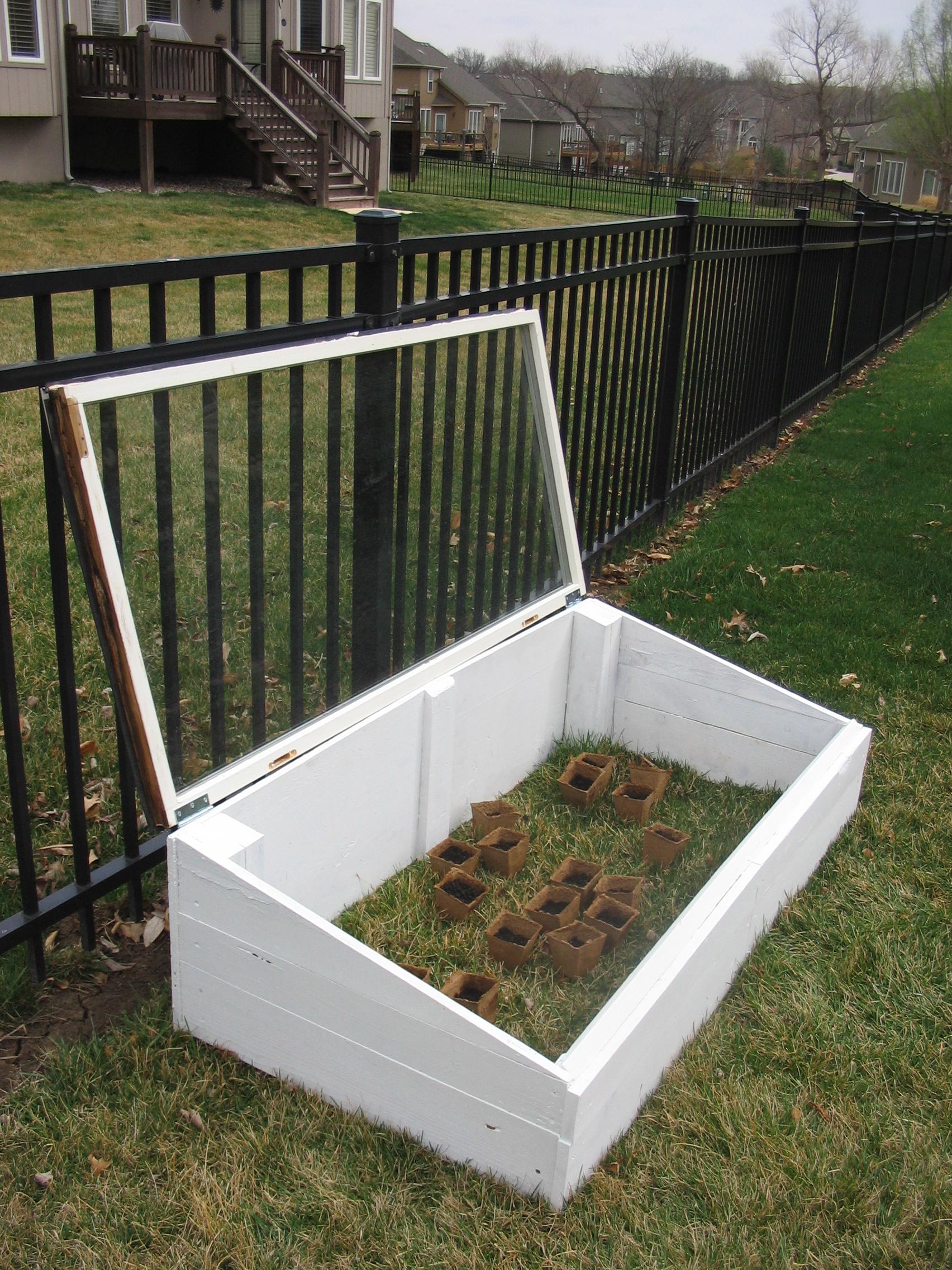 Build a SeedHouse/MiniGreenhouse!