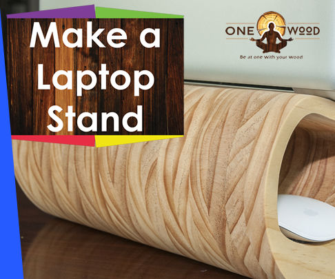 Wooden laptop stand that looks stylish and modern