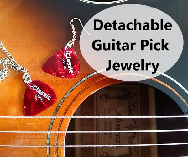 Ready to Play: Detachable Guitar Pick Jewelry