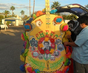 All Souls Procession Giant Guitar