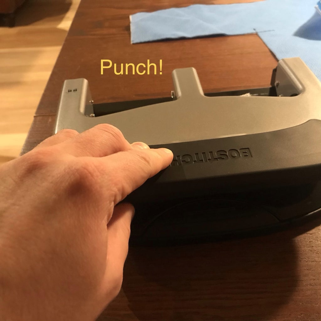 Punch 2 Holes Like Shown Advance 1 Cm and Punch Again