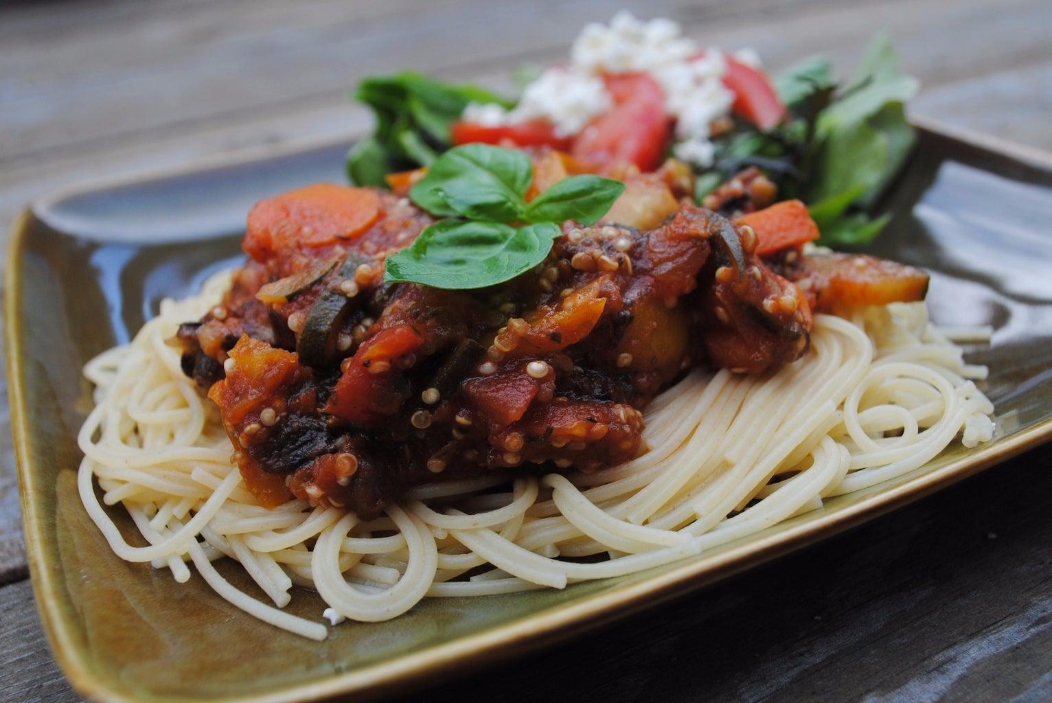 Delicious Quinoa Spaghetti Sauce