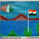 Indian Independence Themed Dot/Pointillism Painting