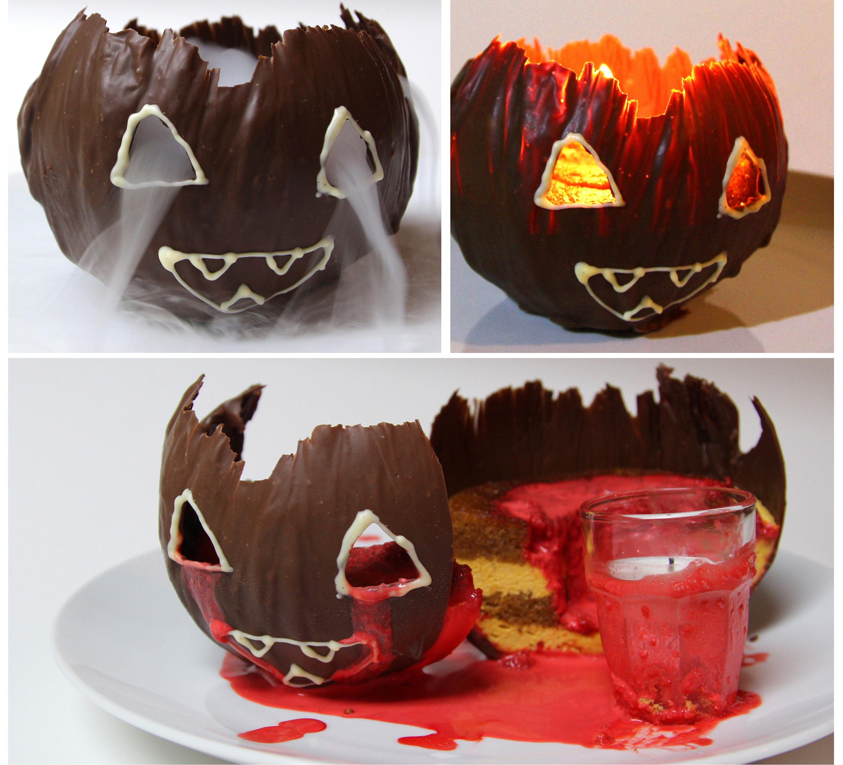 Jack O Lantern Chocolate Pumpkin Mousse Cake