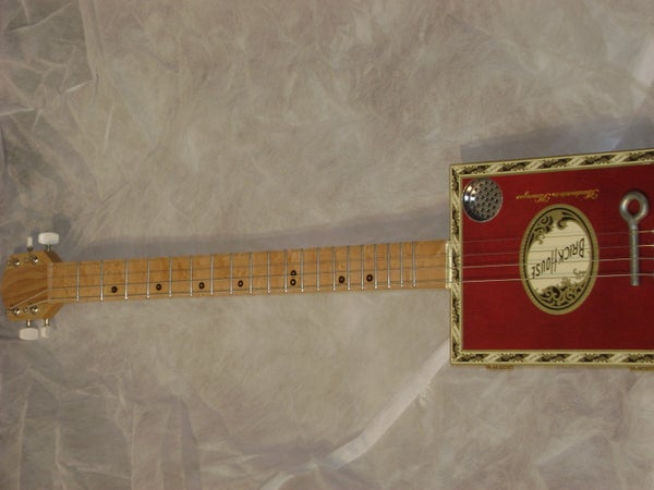 4 String Electric Cigar Box Guitar