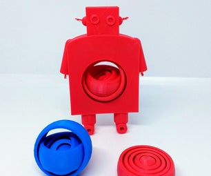 Parametric Gyroscope and Robot Made With Tinkercad Codeblocks