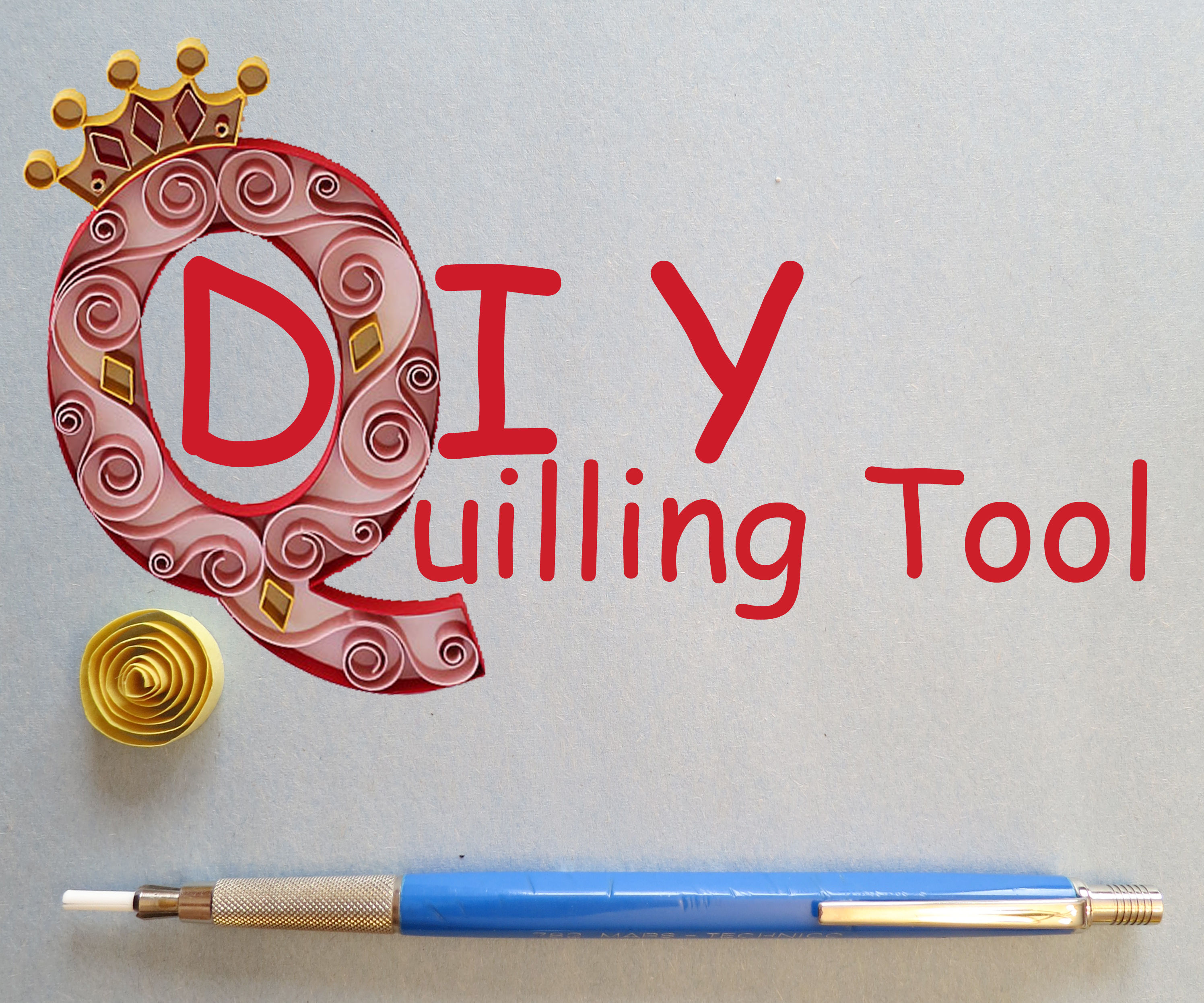 DIY Quilling Tool From Junk Drawer Finds!
