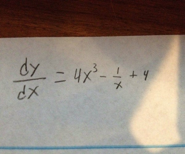 How to Take the Derivative of a Simple Function