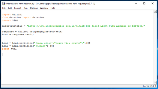 Update Our Python Script