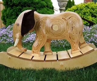 Keepsake Plywood Rocking Elephant