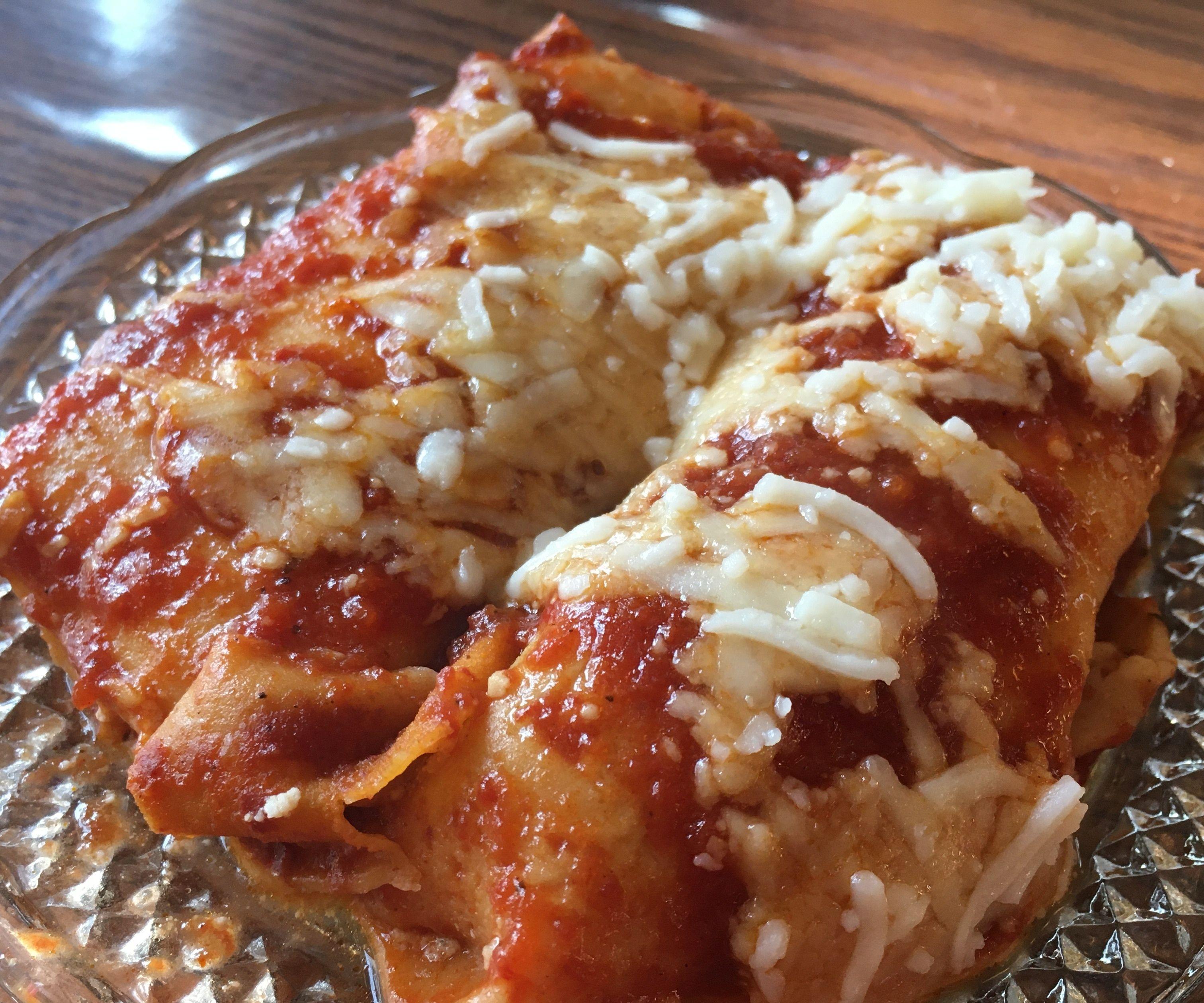 Handmade Four-Cheese Manicotti