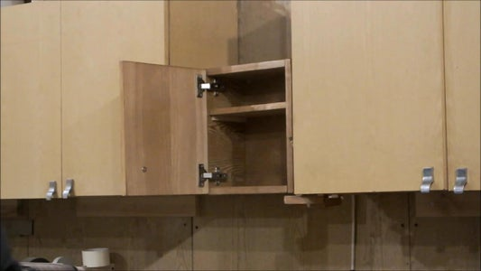 Fitting the Hanging Hardware and Hanging the Cabinet on the Wall