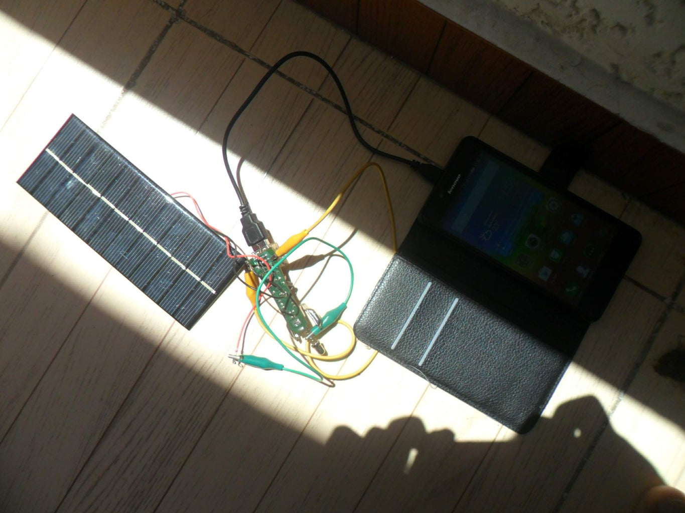 Connect and Test It in the Sun