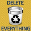How to delete everything in a pc with a click