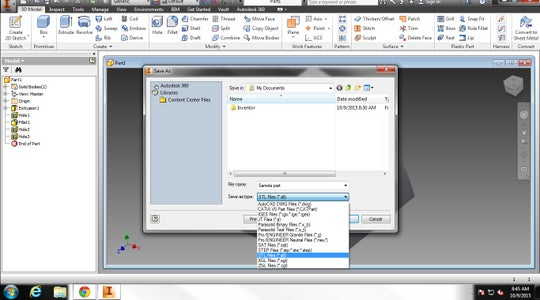 Converting CAD Document to Stl. File.