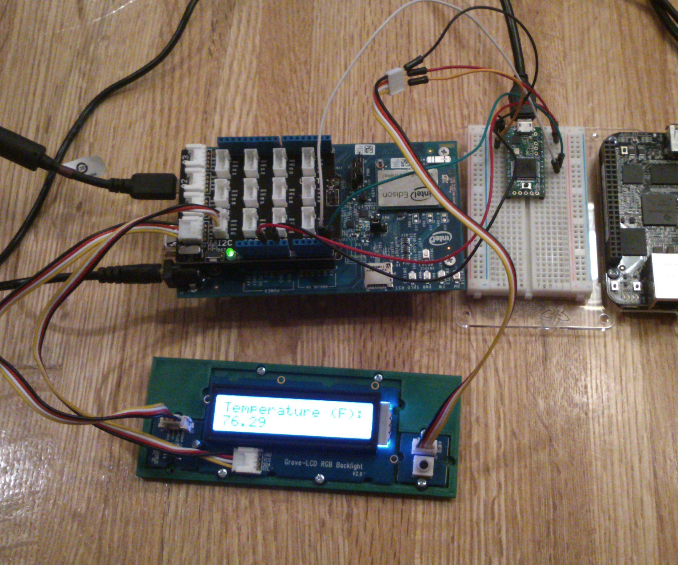 Dual-Arduino I2C Temperature Display