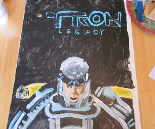 Acrylic Painted Tron Legacy Poster