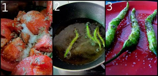 Making the Chutney(Sauce)