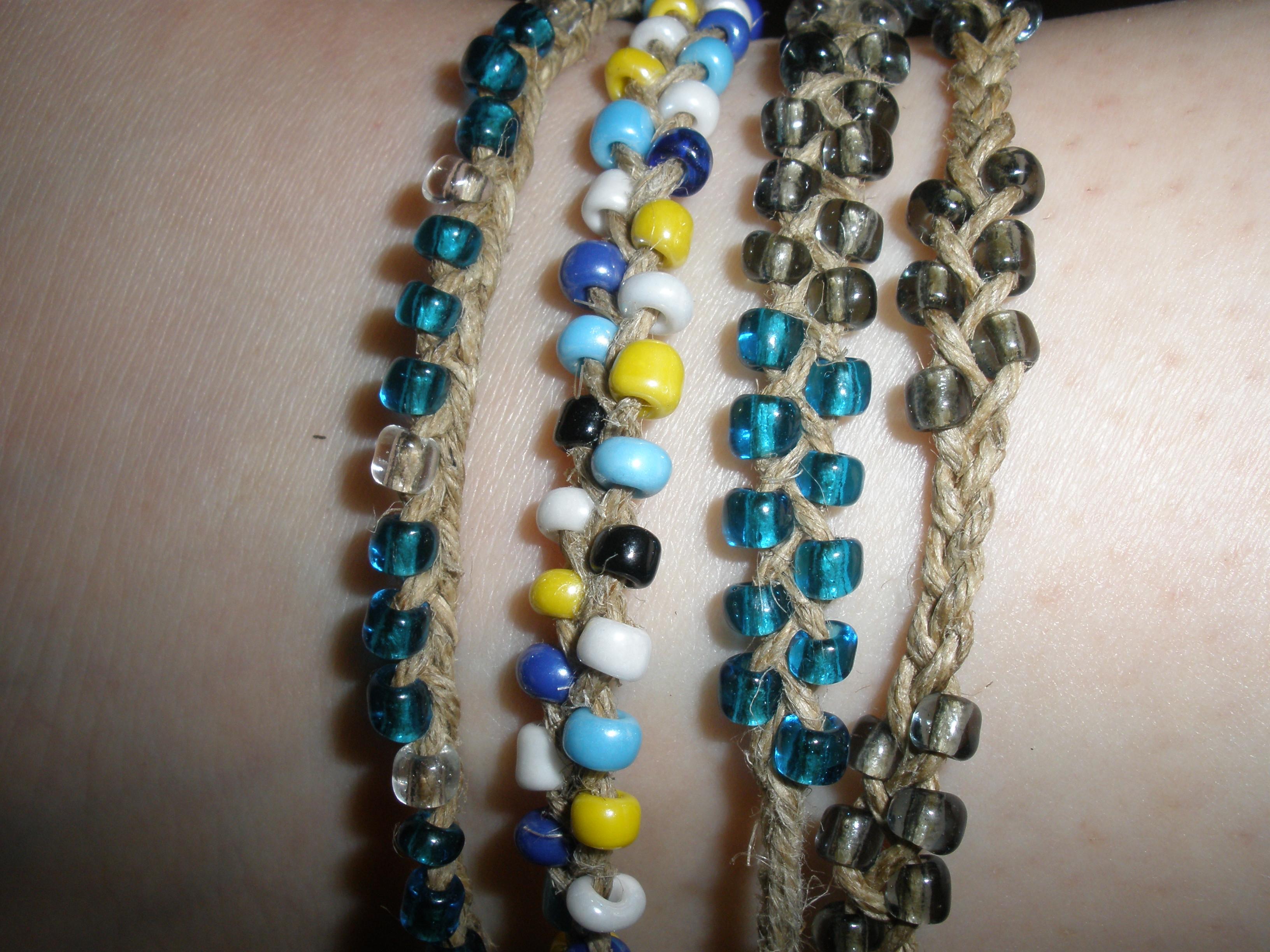 How To Make a Braided Bracelet Using Hemp Cord