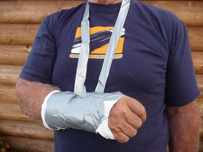 DIY Soft Cast using duct tape