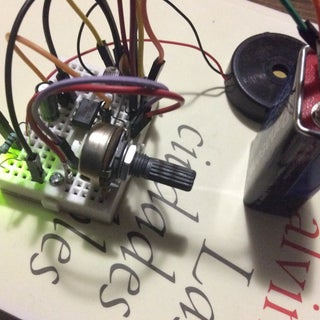 Light Theremin in a NES Controller - 555 Timer