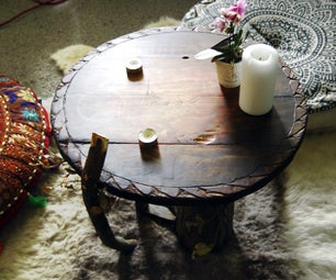 Log and Stick Reclaimed Wood Coffee Table