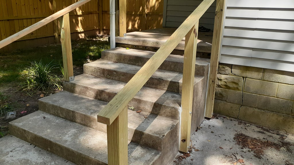 Simple Exterior Handrail For Less Than, How To Build A Wooden Handrail For Outdoor Steps