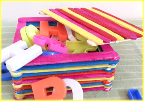 Craft a Candy Sticks Box