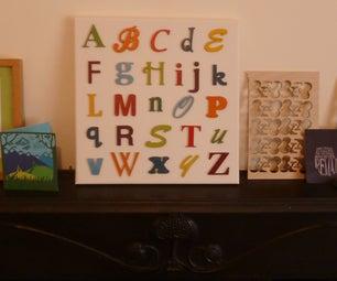 Typography Alphabet Canvas