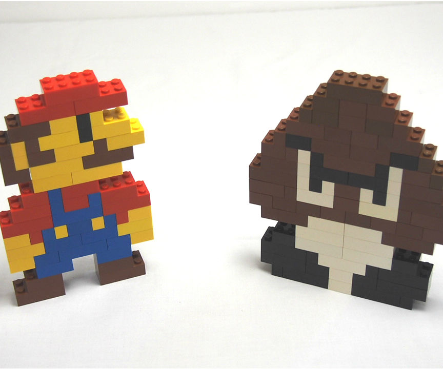 Lego Super Mario and Goomba