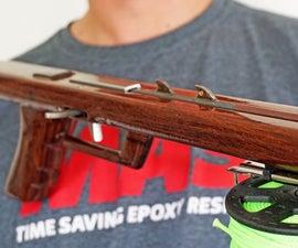 Open Track Wooden Spearfishing Gun