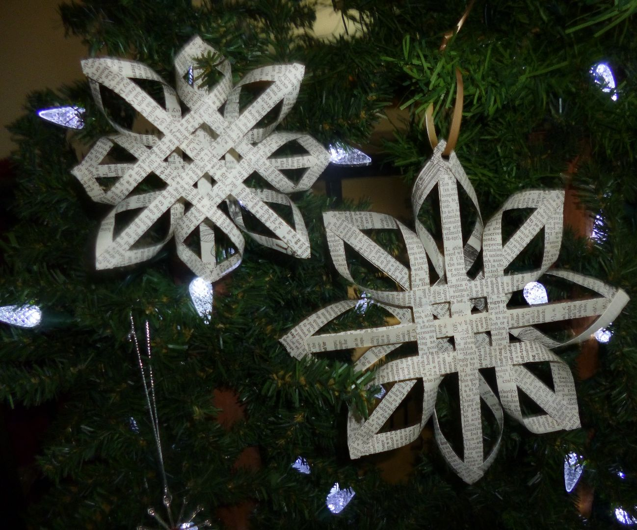 Dictionary Paper Snowflake
