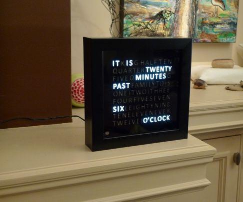 3D Printed Word Clock