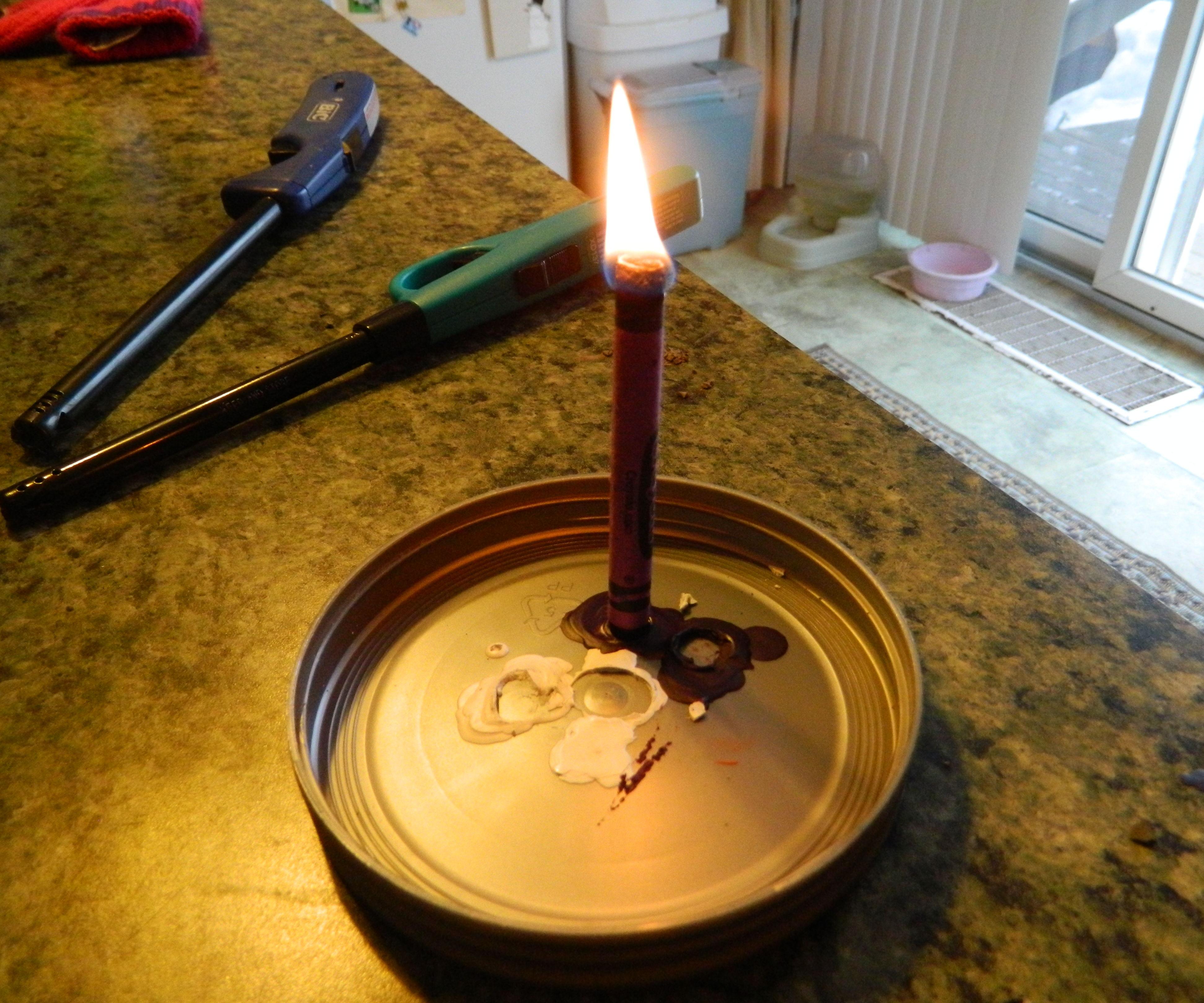 Emergency Crayon Candle