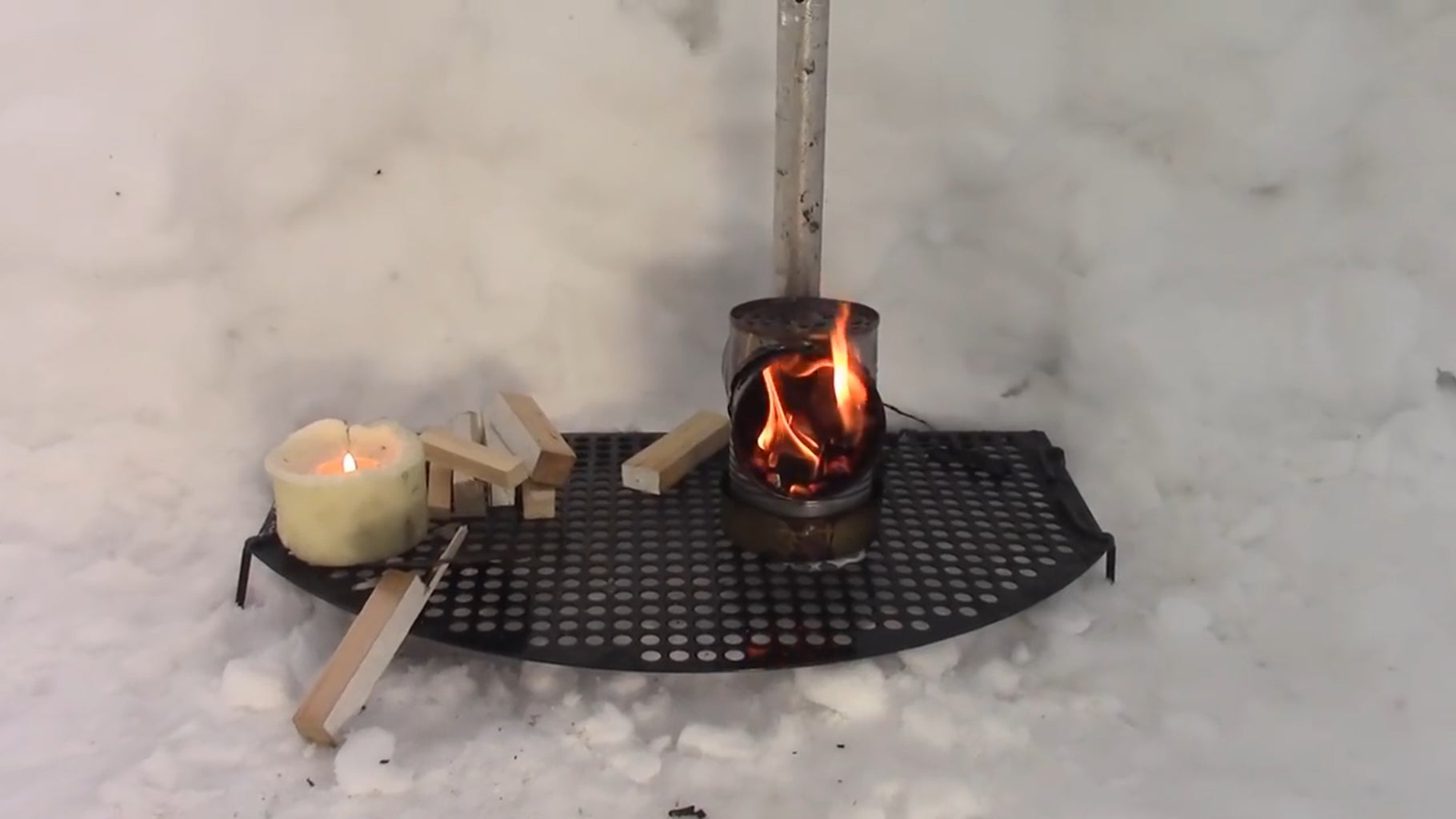 Installing a Stove.
