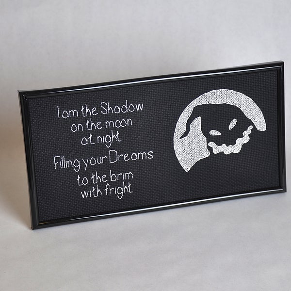 """I Am the Shadow"" - Oogie Boogie Cross Stitch"