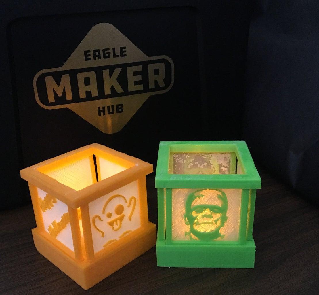 2D to 3D Tealight Holder