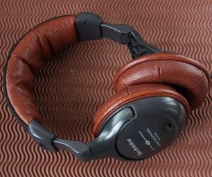 Vintage Headphones Leather Cushions