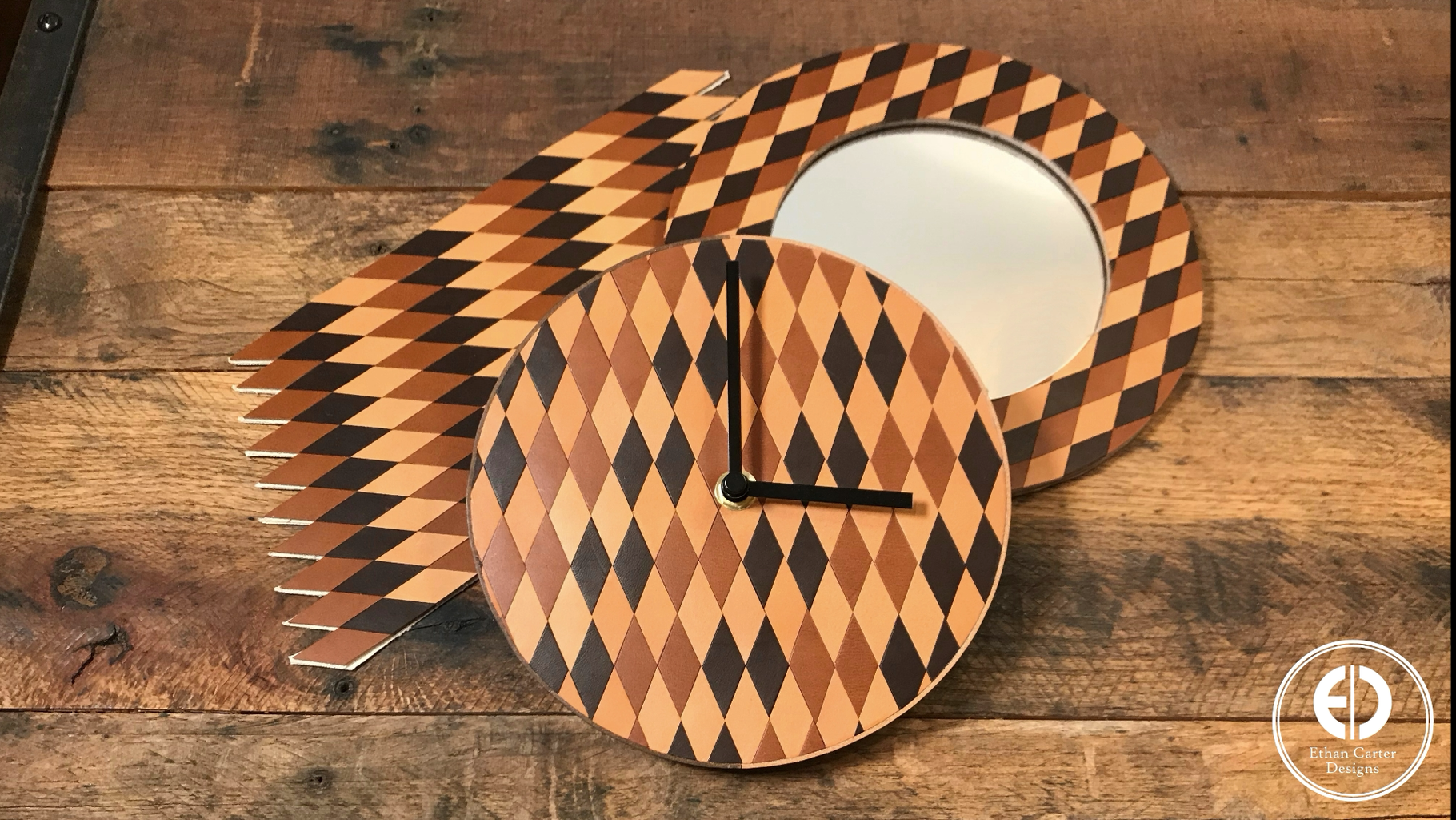 Making the Patterned Leather Mirror Frame