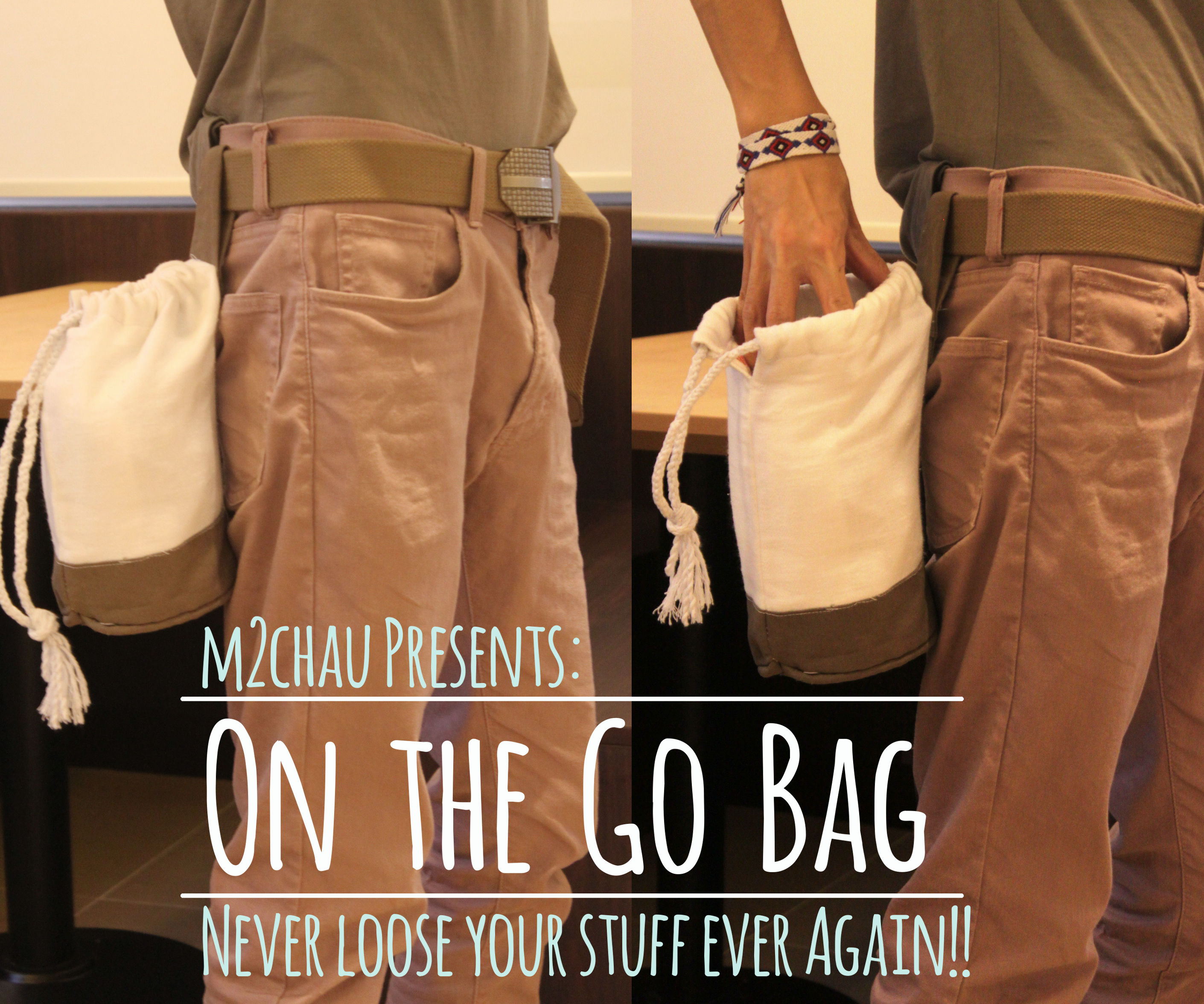 On the Go Bag (never loose ur stuff ever again!!)