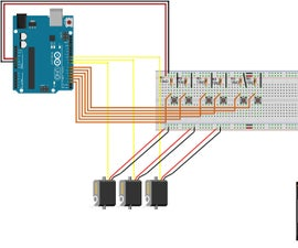 How to Control 3 Servo Motors Using Push Button Switches and an Arduino Uno