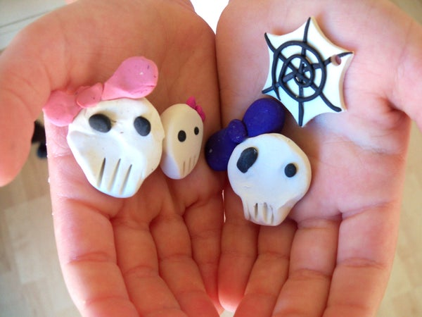 Polymer Clay Spiderweb and Skull Tutorials