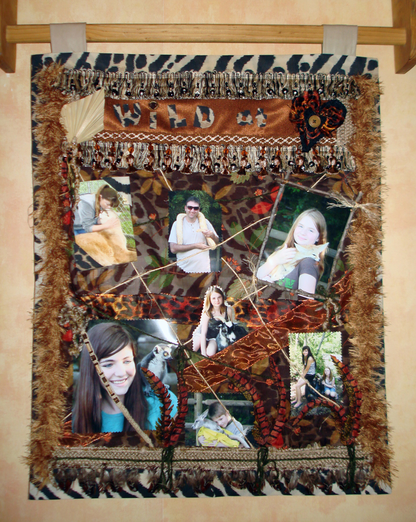 Wild at Heart – Picture Collage Wall Hanging