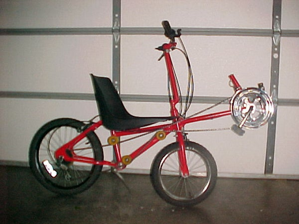 """Recumbent Bicycle From Re""""cycled"""" Parts"""
