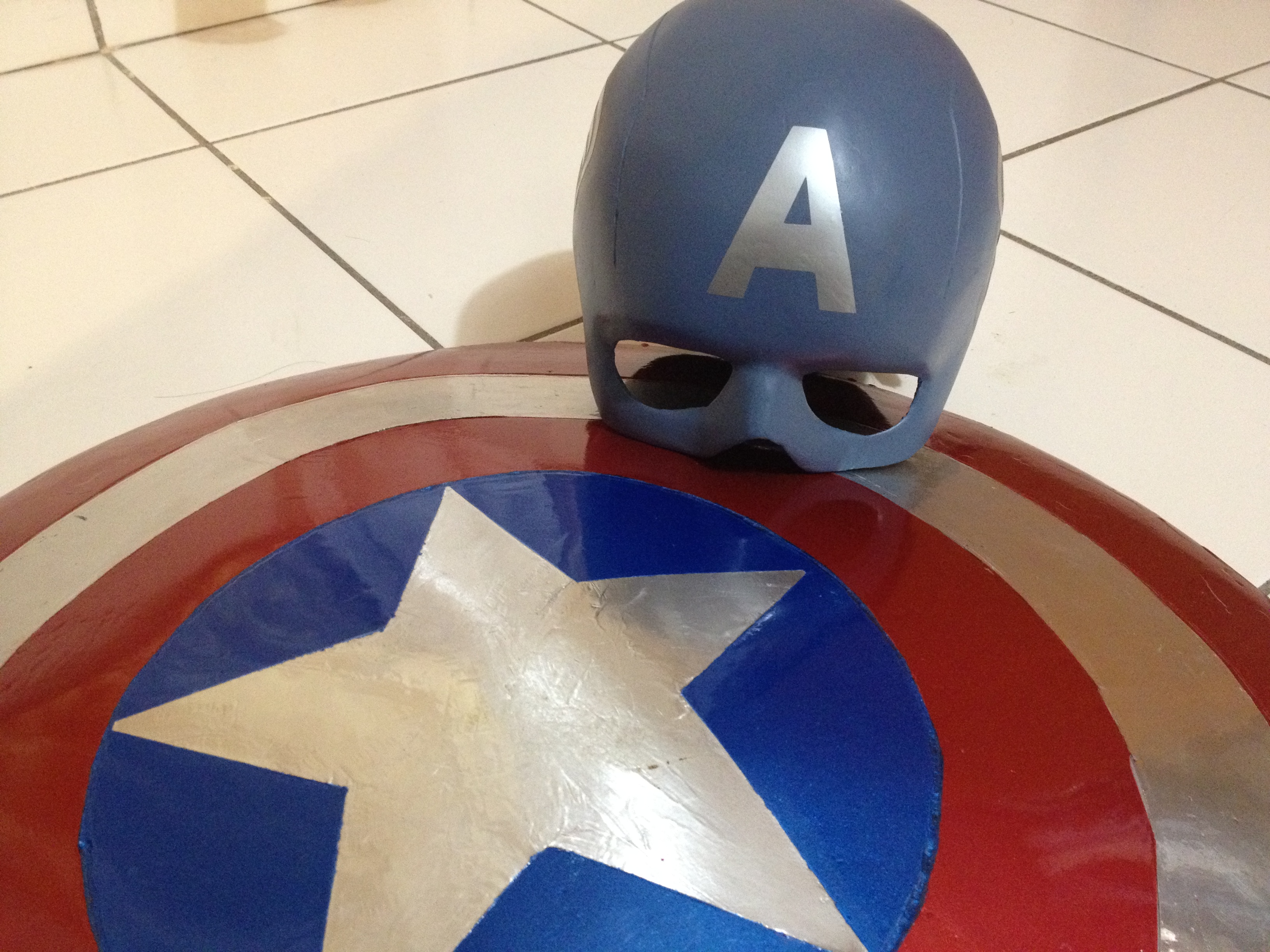 Captain America Shield and Helmet