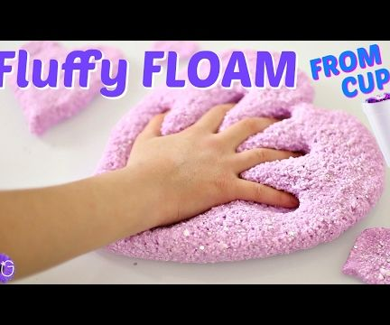 FLUFFY FLOAM SLIME FROM STYROFOAM CUPS! NO BORAX NEEDED!