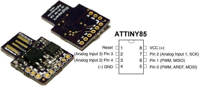 Digispark minimal Arduino board Tiny85 für USB