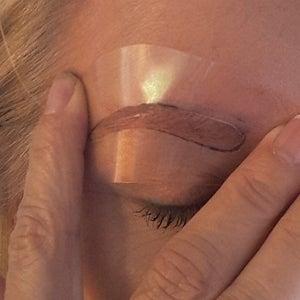 Use Your New Custom Eyebrow Stencils