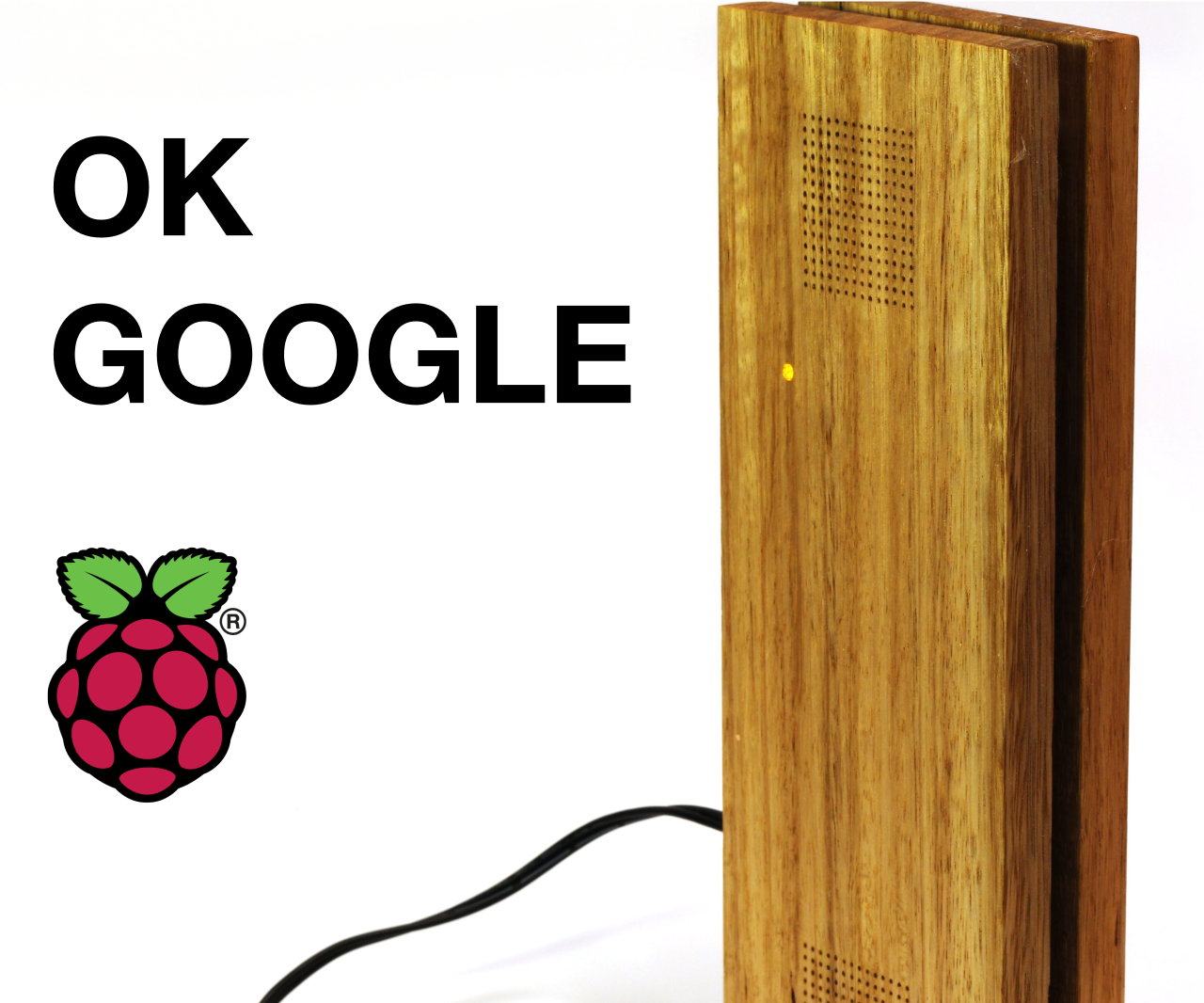 Raspberry Pi DIY Google Assistant With Sleek Wood Box