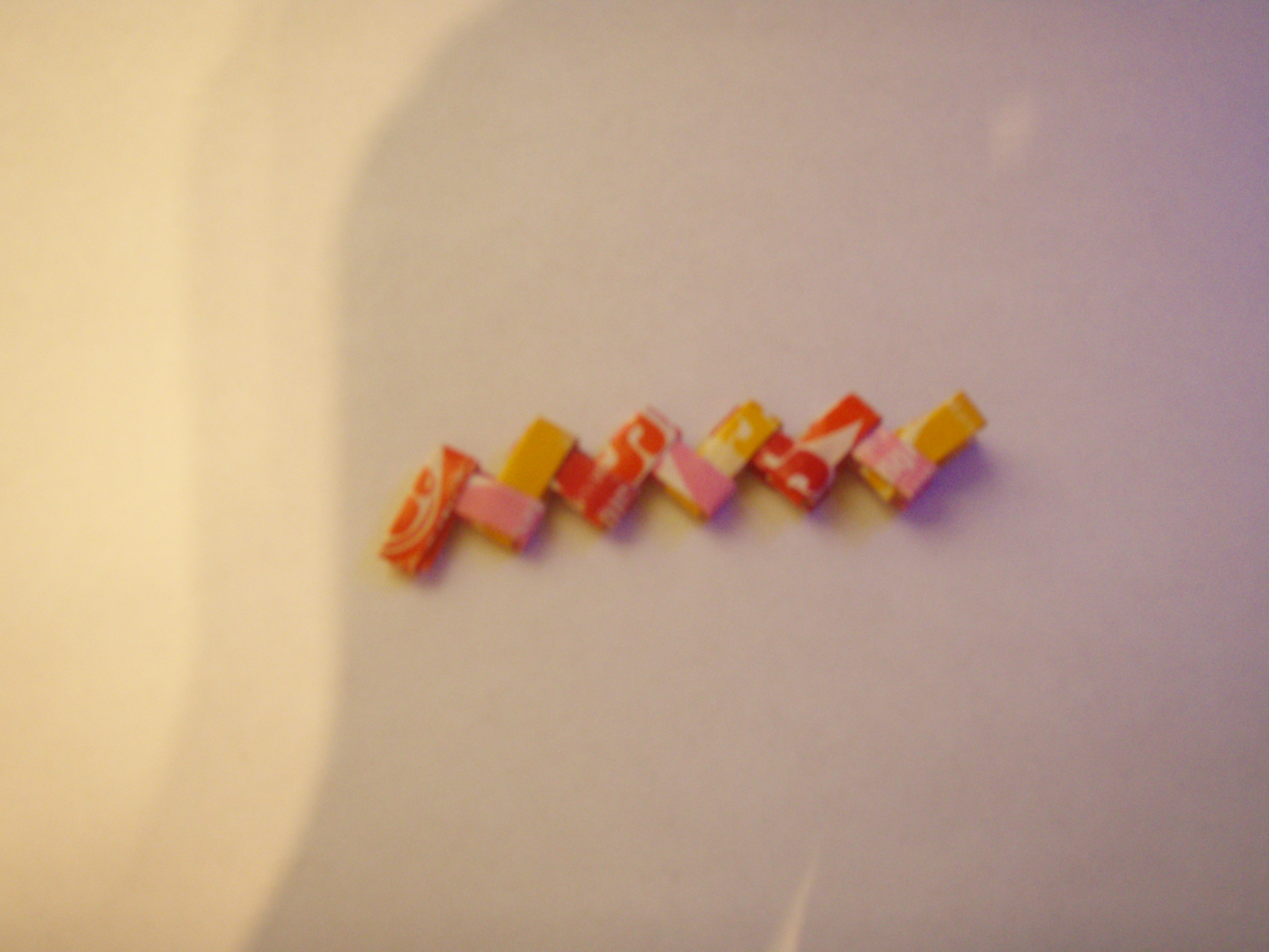 How to make a bracelet out of Starburst wrappers